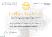grapevine certificate of authenticity