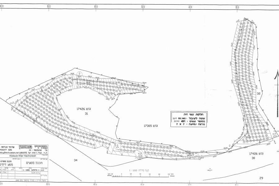 Kfar Hachoresh Olive Grove Map 20090923