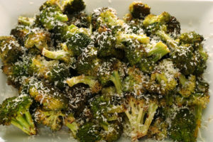 Roasted Broccoli with Extra Virgin Olive Oil