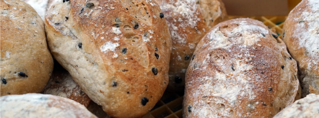 Black Olive Sourdough Bread with Olive Oil Dipping Sauce