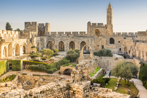 Jerusalem, Israel at the Tower of David