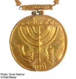 Gold medallion found at Temple Mount.