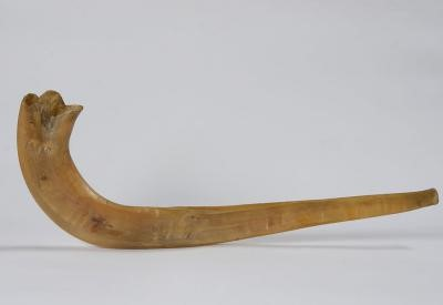 A shofar crafted in a forced labor camp.