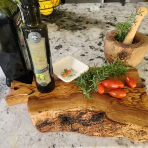 Cutting Board | Olive Wood with Live Edge