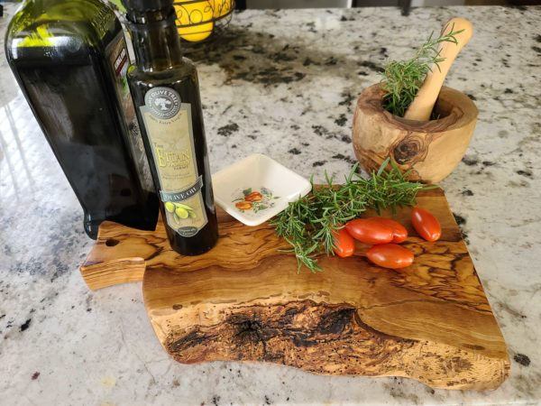 Cutting Board   Olive Wood with Live Edge