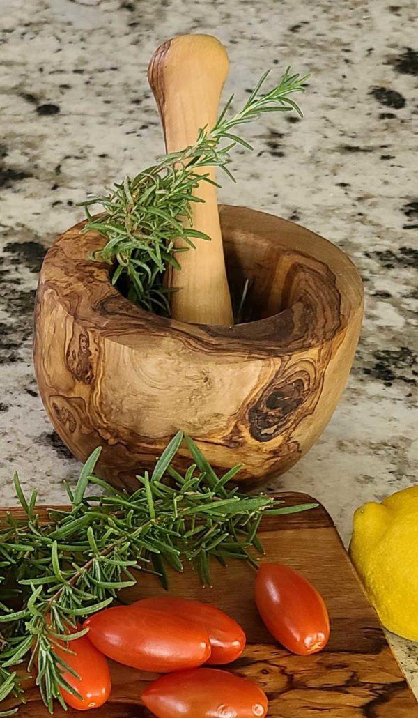 Mortar & Pestle | Olive Wood