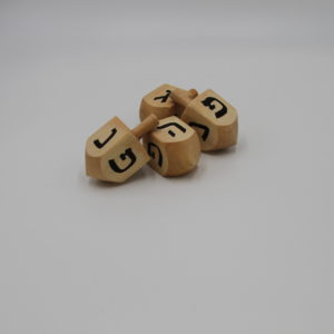 Dreidel | Olive Wood set of 4