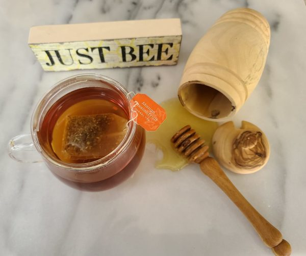 Honey Pot   Olive Wood